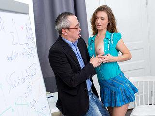 Slutty student has sex with horny teacher
