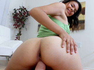 Hot stepsister Kat Arina gets her snatch fucked by her step bros cock